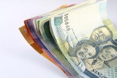 Philippine Peso Bills Stock Photos