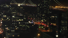 Time lapse shot of the busy streets of San Francisco at night Stock Footage
