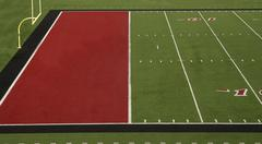 football field red end zone - stock photo