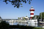 Stock Photo of hilton head harbour town lighthouse