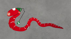 Worm draws attention Stock After Effects