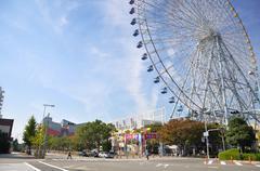 Ferris wheel in tempozan harbor village - osaka, japan Stock Photos