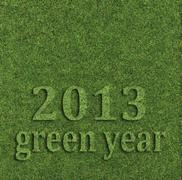 2013 green year - stock illustration