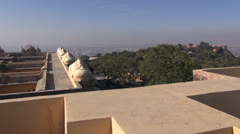 Jaipur red city   Nahargarh fort in Rajasthan, India Stock Footage