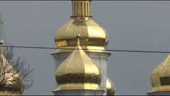 Ancient orthodox cathedral St. Catherine Stock Footage