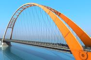 Bridge over the ocean. 3d illustration Stock Illustration