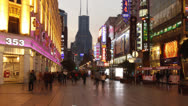 Stock Video Footage of Time lapse of Nanjing Road at night
