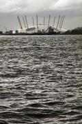 Millennium Dome across the Thames Stock Photos