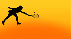 Tennis animation Stock Footage