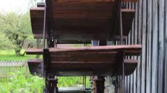 Water wheel turns Stock Footage