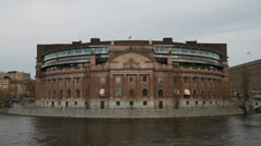 The parliament of Sweden - Riksdagen Stock Footage