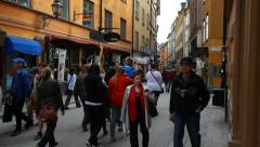 Old Town of Stockholm Stock Footage