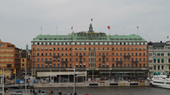 Grand Hotel, Stockholm Stock Footage
