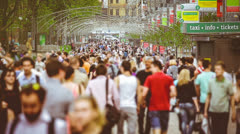 ANONYMOUS crowd, 4X SLOW MOTION, Full HD 1080p Stock Footage