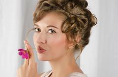 Stock Photo of beauty woman closeup portrait