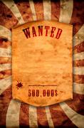 Wanted dead or alive. Stock Illustration