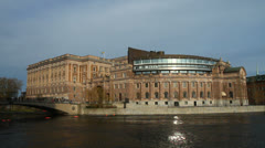 The parliament of Sweden - Riksdagen - stock footage