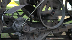 Close-up of an machine running Stock Footage