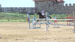 Competitions in equestrian Sport 10 Stock Footage