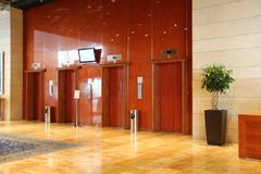 elevator in modern hotel - stock photo
