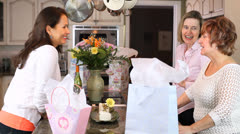 Mature Birthday Party Stock Footage