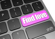 Stock Illustration of Find love with black keyboard
