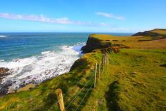 Irish coastline in springtime Stock Photos