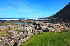 beautiful rocky coastline of ireland - stock photo