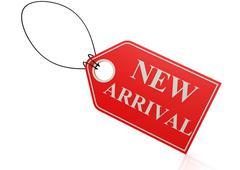 New arrival label - stock illustration