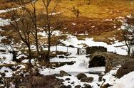 Stock Photo of View of High Sweden Packhorse Bridge