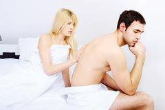 couple having problems - stock photo