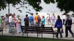 Seaside boulevard of the city of Sevastopol. Stock Footage