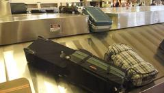 Baggage Claim Luggage Arrival 2 Stock Footage