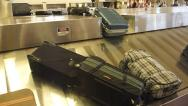 Stock Video Footage of Baggage Claim Luggage Arrival 2