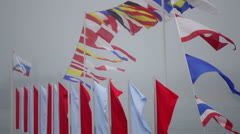 Flags of the Navy. Stock Footage