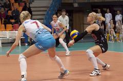 Elena Ezhova of Dynamo team - stock photo