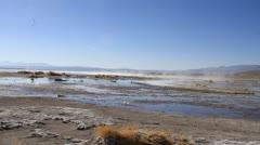 Hot springs in uyuni Stock Footage