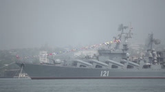 "Missile cruiser ""Moscow"". Stock Footage"