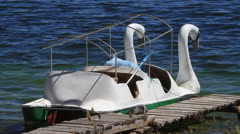 Pedal boat Stock Footage