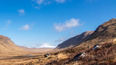 clouds in the Scottish Highlands - stock footage