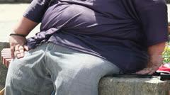 Fat Man - stock footage