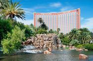 Treasure island casino hotel resort on the las vegas strip in nevada Stock Photos