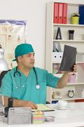Medical doctor in the office Stock Photos