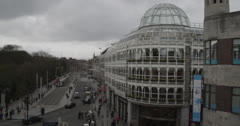 City Scape 1 - Ireland, Dublin - St. Stephens Green Stock Footage