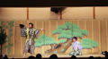 Kyigen theater with comic actors in Gion Corner, Kyoto, Japan Footage