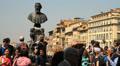 Benvenuto Cellini statue, Ponte Vecchio Footage