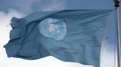 Stock Video Footage of Waving Flag of United Nations