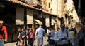 Shopping in Ponte Vecchio, Florence Footage