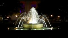 Water Fountain at night Stock Footage