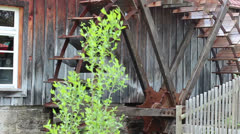Mill wheel turns Stock Footage